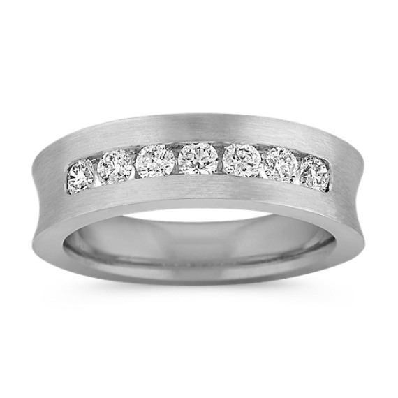 Seven Stone Diamond Men's Ring with Channel Setting
