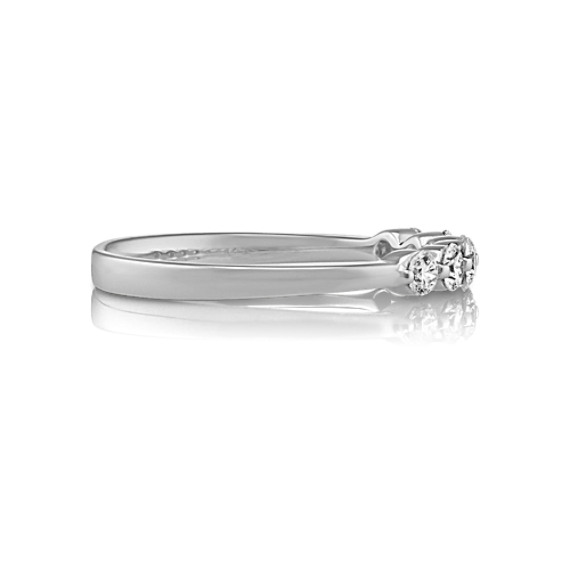 Six Stone Round Diamond Wedding Band