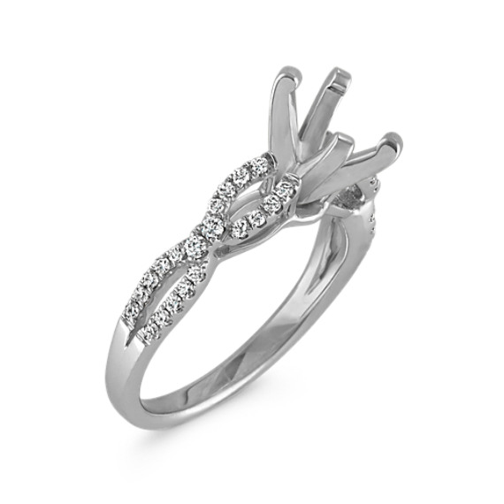 Slim Infinity Cathedral Diamond Engagement Ring