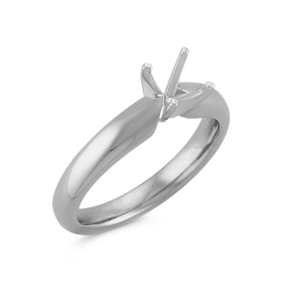 Solitaire 14k White Gold Engagement Ring