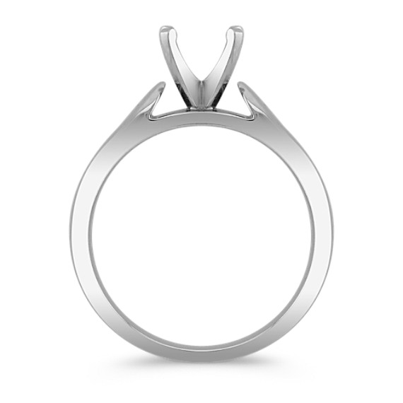 Solitaire Platinum Cathedral Engagement Ring