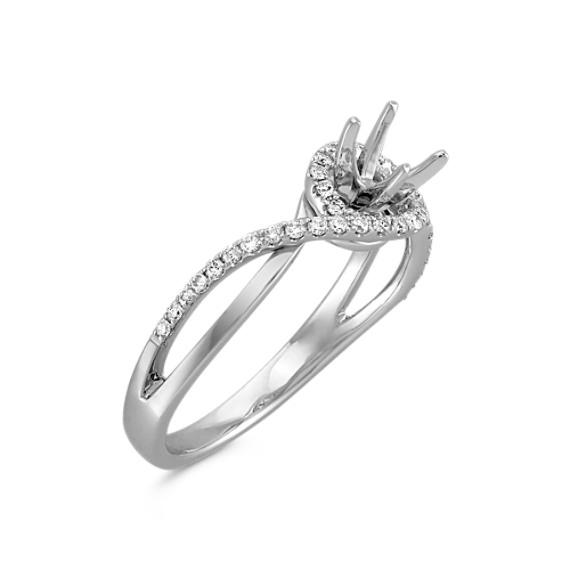 Split Shank and Swirl Round Diamond Ring