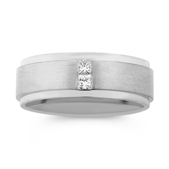 Stacked Princess Cut Diamond Wedding Band