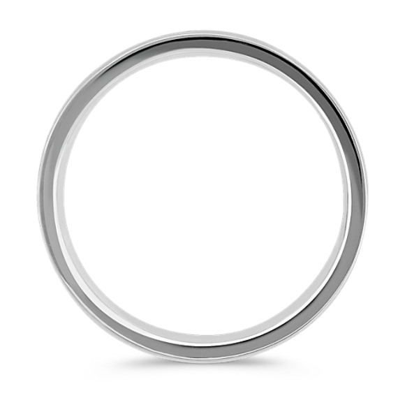 Sterling Silver and 14k White Gold Comfort Fit Ring (6mm)