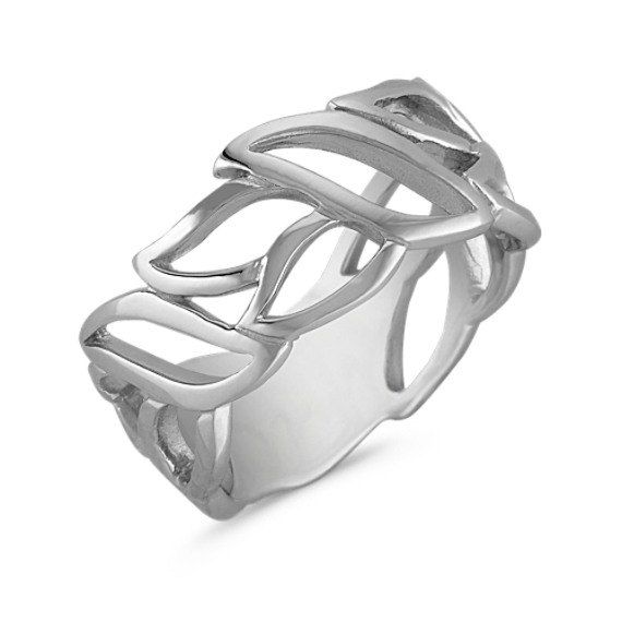 Sterling Silver Open Leaf Ring