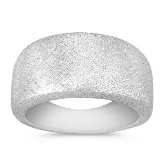 Sterling Silver Satin Ring