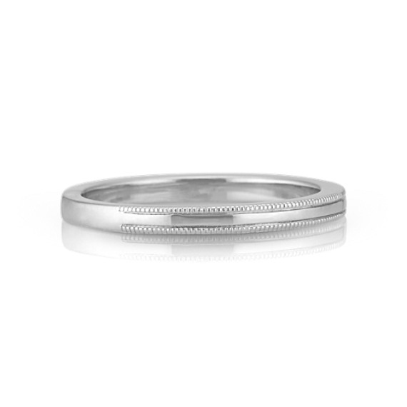 Sterling Silver Stackable Ring with Milgrain Detailing