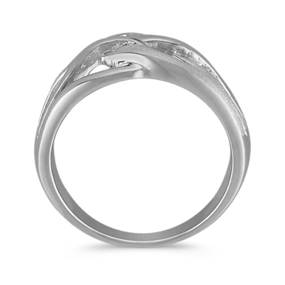 Sterling Silver Twist Ring with Sandblasted Finish