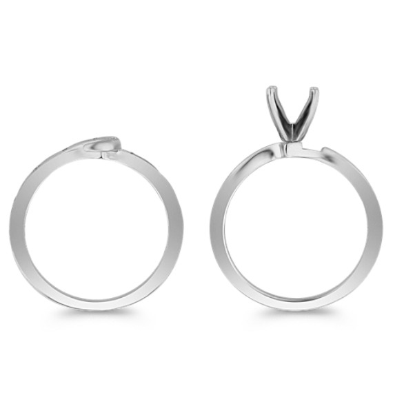 Swirl Diamond Wedding Set for Her