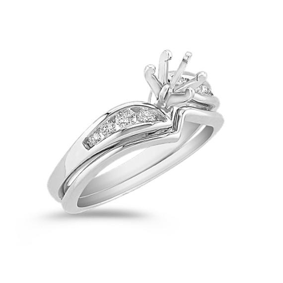 Swirl Diamond Wedding Set
