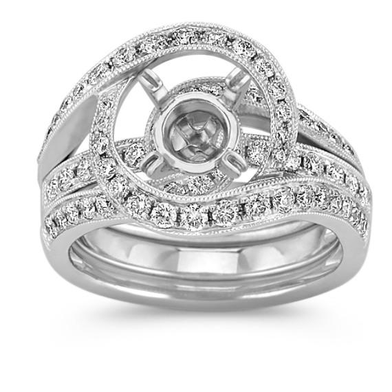 Swirl Halo Wedding Set