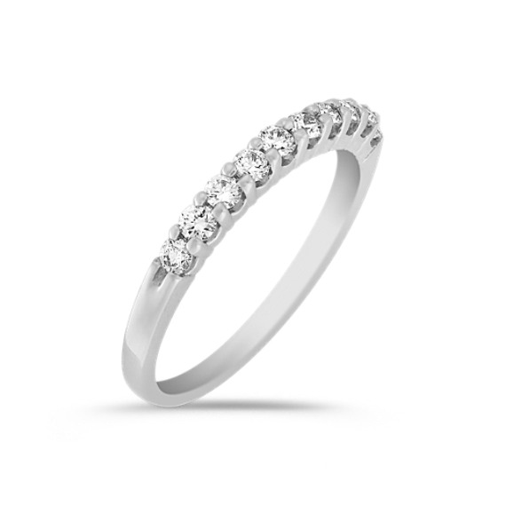 Ten Stone Diamond Wedding Band