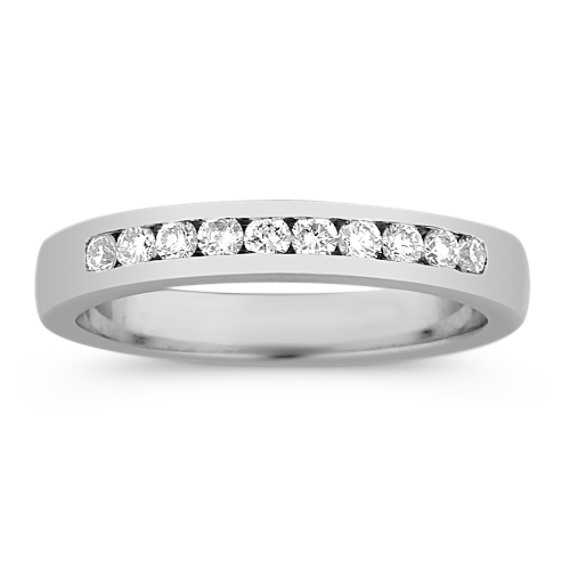 Ten Stone Round Diamond Wedding Band