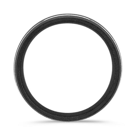 Textured Titanium Comfort Fit Ring (8mm)