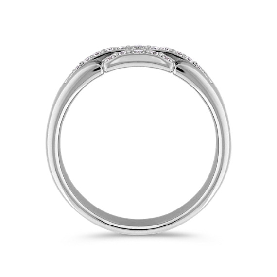 Three-Row Round Diamond Wedding Band