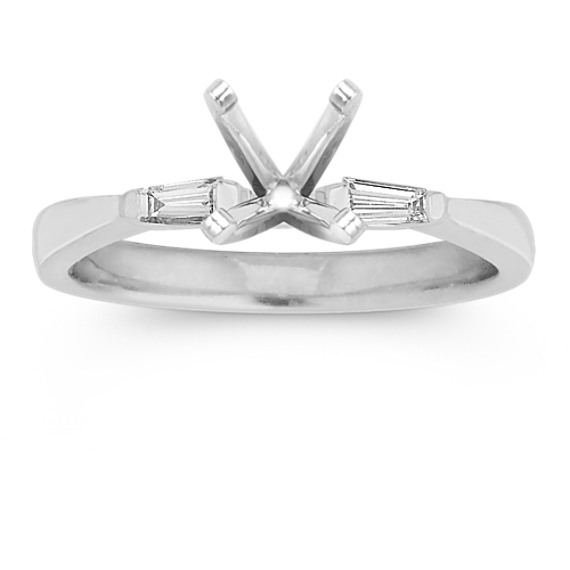 Three-Stone Baguette Diamond Engagement Ring