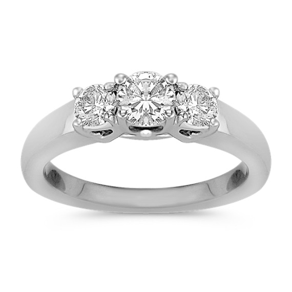 Three-Stone Diamond Anniversary Band