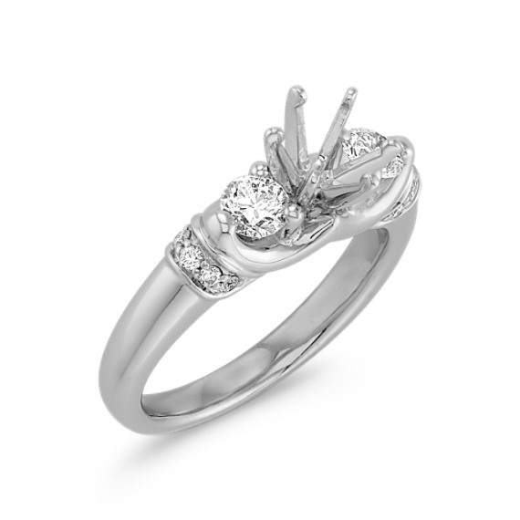 Three-Stone Diamond Platinum Engagement Ring