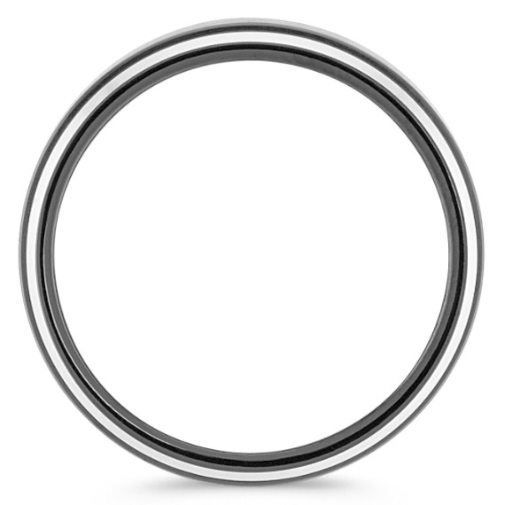 Two-Tone Cobalt Comfort Fit Ring with Satin Finish (9mm)