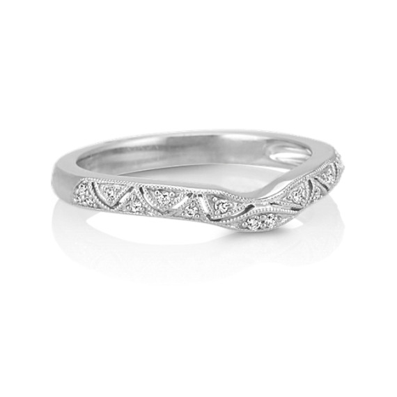 Vintage Diamond Contour Wedding Band
