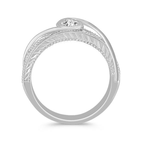 Vintage Diamond Ring in Sterling Silver