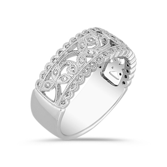 Vintage Diamond Swirl Ring