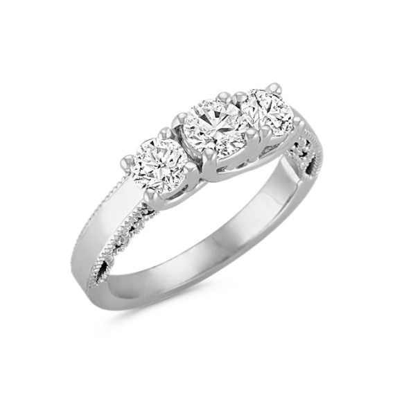 Vintage Diamond Three-Stone Ring