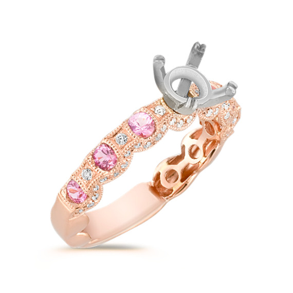 rose, a setting of fine jewelry enhances the Many engagement rings ...