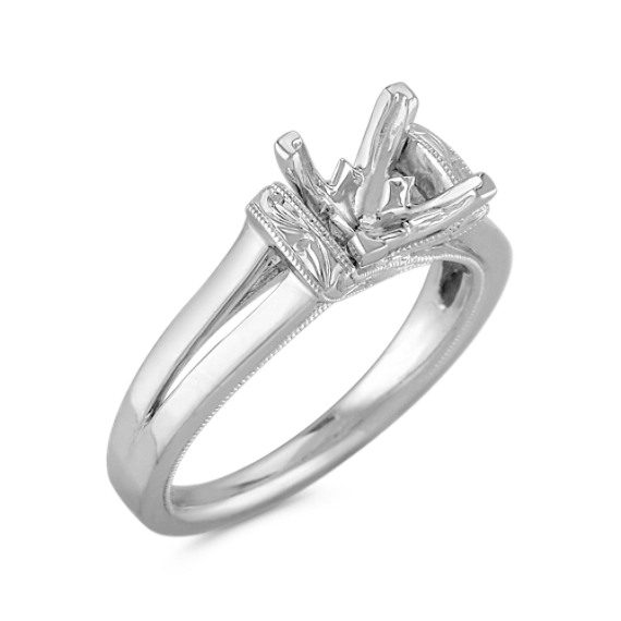 Vintage Solitaire Platinum Engagement Ring