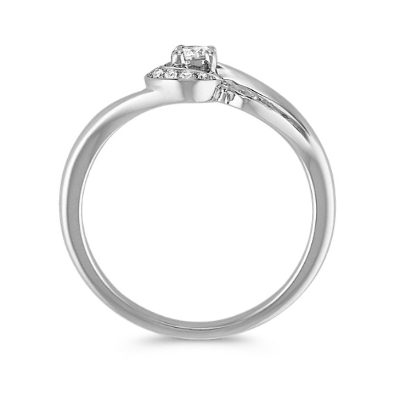 Whirl Round Diamond Ring in Sterling Silver