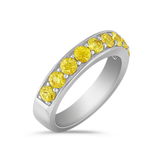 Yellow Sapphire Wedding Band