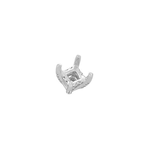 Diamond Alexa Head to Hold up to 1.25 ct. Princess Cut Stone