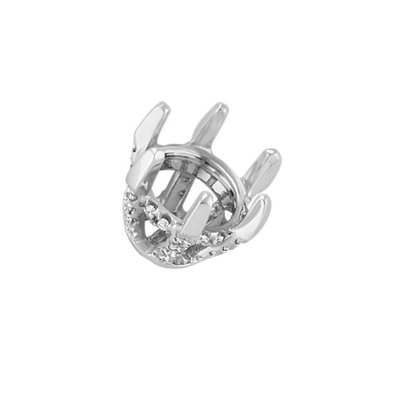 Diamond Alexa Head to Hold up to 1.25 ct. Round Stone