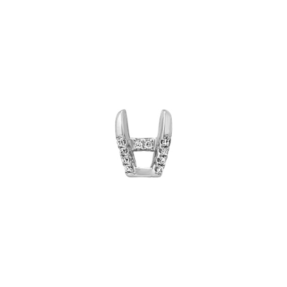 Diamond Alexa Head to Hold up to 2.00 ct. Princess Cut Stone