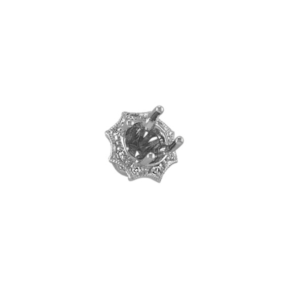 Diamond Guinevere Head to Hold up to .50 ct. Round Stone