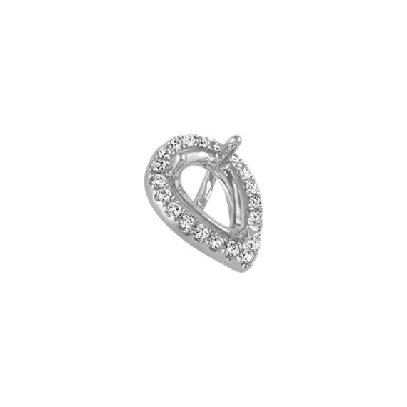 Diamond Halo Head to Hold 1.00 ct. Pear-Shaped Stone