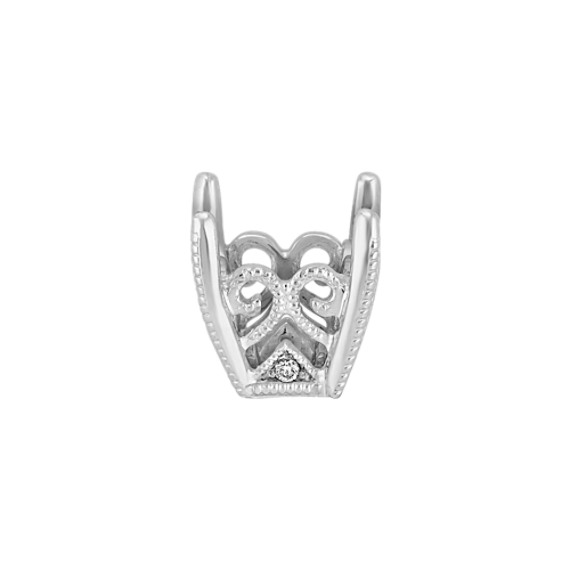 Tatiana Head to Hold up to .75 ct. Princess Cut Stone