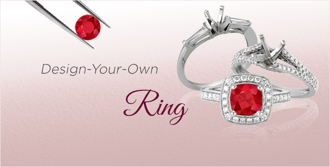 Design Your Own Ruby Rings