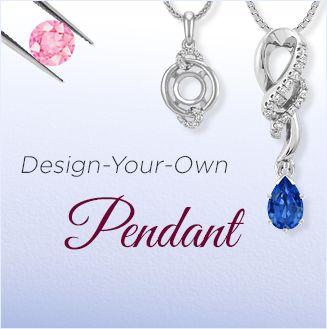 Design Your Own Sapphire Pendants
