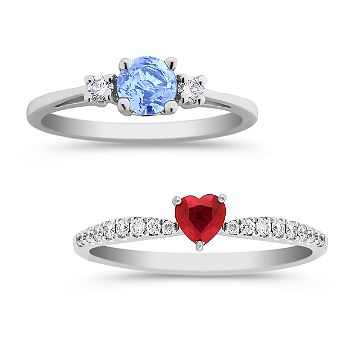 Sapphire and Ruby Rings
