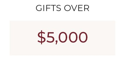 Gifts Over $5,000