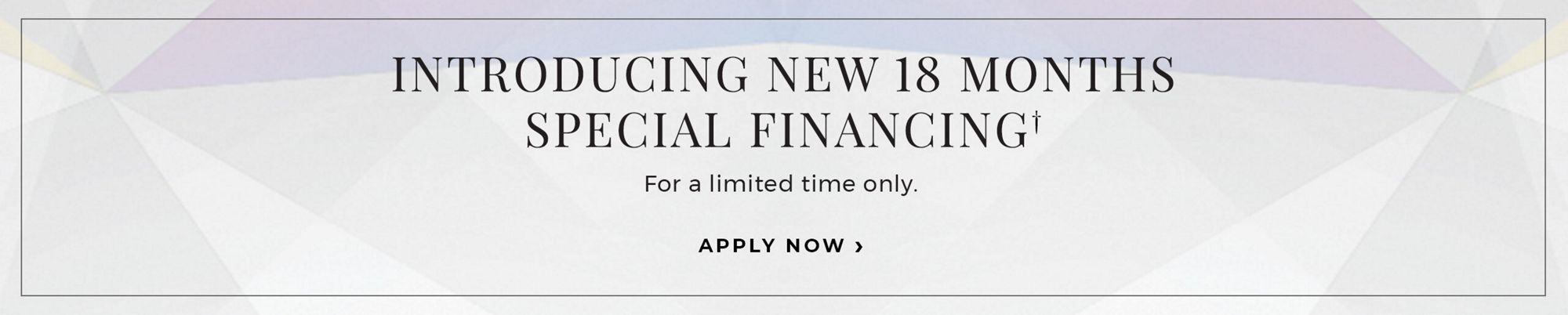 Special 18 Month Financing with the Shane Co Credit Card