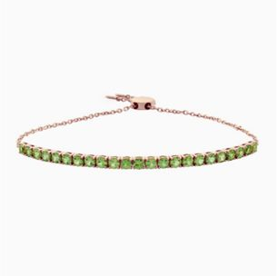 A green gemstone fashion bracelet