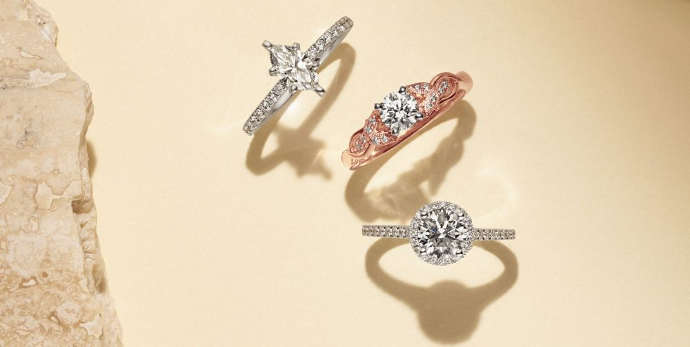 Three Preset Engagement Rings