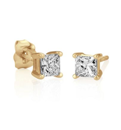 Princess Diamonds in Yellow Gold image