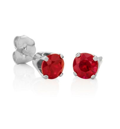 Round Rubies in White Gold image