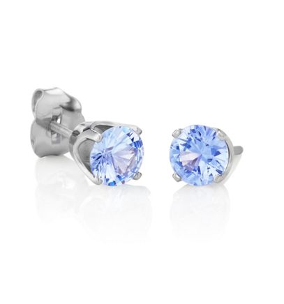 Round Ice Blue Sapphires in White Gold image