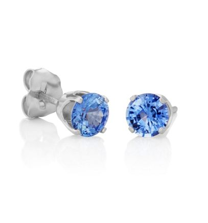 Round Kentucky Blue Sapphires in White Gold image