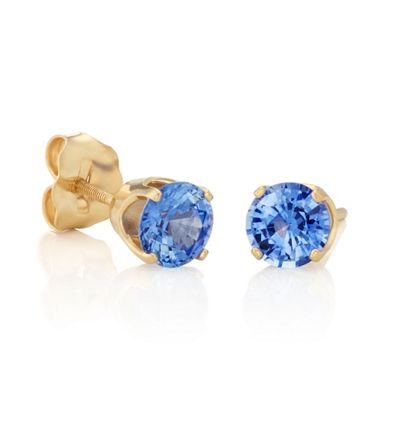 Round Kentucky Blue Sapphires in Yellow Gold image