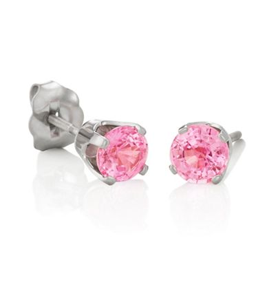 Round Pink Sapphires in White Gold image